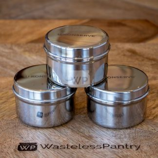 Mini Stainless Steel Containers (Set of 3)