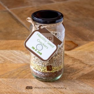 Gift Healthy Seed Crackers Premade Jar